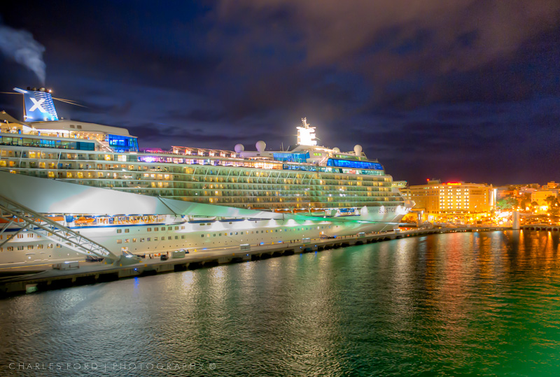 Cruise ship docked at Puerto Rico